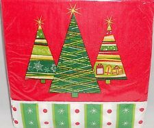 "Christmas Luncheon Napkins Trendy Trees 20 Ct 12 7/8"" X 12 3/4"""