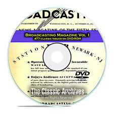 Broadcasting Magazine, Volume 1, 477 Old Time Radio OTR Magazines PDF DVD E58