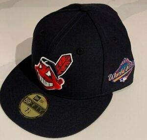 Cleveland Indians New Era 59fifty 1997 World Series Patch Fitted Hat Cap 7 1/8