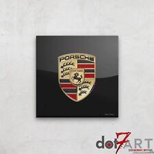 "24""X24"" Porsche Badge Luxury Black Open Edition Print"