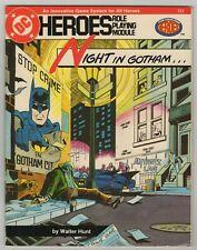 DC Heroes Role Playing Module #212 Night In Gotham 1986 Wayne Foundation Fine