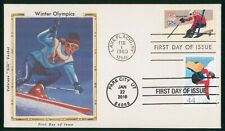 MayfairStamps US FDC Unsealed 2010 Downhill Skiing Olympics Colorano Silk First