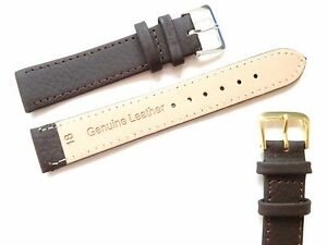 Brown High Quality Men's Ladies Genuine Soft Leather Watch Band Strap 6mm-22mm