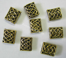 8 Pieces 8x7mm Metal Gold Tone Beads For Beading & Jewellery Making JF309