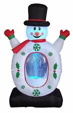 Christmas Air Blown Inflatable Snowmen Snowflake Swirls Globe Garden Decoration