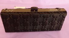 Coast new black satin Laurie rectangular evening bag with metal strap