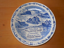 Commemorat Plate Vernon Kilns Pot & Kettle Clubs Convention 1951 Gearhart OR A
