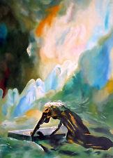 Alexandre Evariste Fragonard, Bradamante sulla tomba di Merlino ,OLIO SU TELA