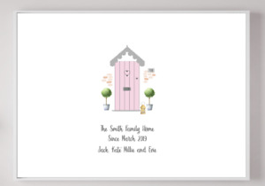 Personalised New Home Family Keepsake Gift Present Picture Poster Print A4 PR25