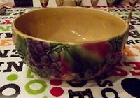 Ancienne coupe à fruits faïence de Sarreguemines Old slip fruit bowl