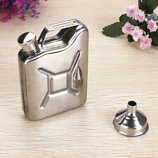 Mini Stainless Steel 5oz Hip Flask Liquor Whiskey Alcohol Fuel Gas Gasoline Can