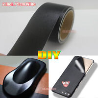 2inch Wide DIY Black Matte Leather Grain Texture Vinyl Sticker Tape Car Wrap AB