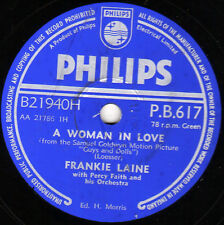 "UK #1 1956 60th BIRTHDAY? FRANKIE LAINE 78 "" A WOMAN IN LOVE "" PHILIPS PB 617 E-"