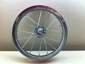 """Steel Bicycle Front Wheel for 12"""" Bikes Stroller Tricycle New"""