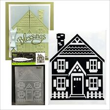 Darice embossing folders HOUSE AND FENCE  folder 1219-417 Cuttlebug compatible