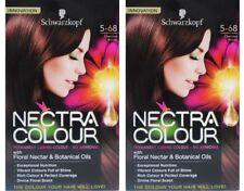 2 X Schwarzkopf Nectra Colour 5-68 Chestnut Brown Permanent Hair 100