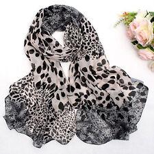 Fashion Women Long Style Wrap Lady Shawl Leopard Chiffon Scarf Scarves Stole