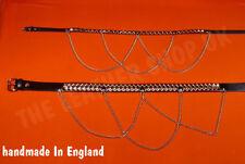 Bullet New Leather UK Handmade Gothic Punk Pyramid Studded Jean Waist Chain Belt