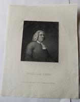 ANTIQUE PRINT ~ William Penn LONGACRE Edwin