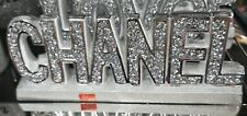 Crushed Crystal Diamond Silver Ornament Shelf Sitter Mantle Piece Decor NEW