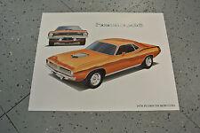 NOS 1970 Plymouth Hemi Cuda Art Picture Print Dealer Advertising MOPAR
