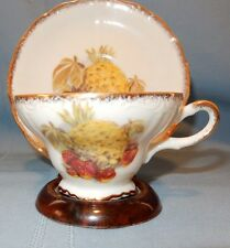 Pineapple and Strawberry Strawberries Fruit Cup and Saucer
