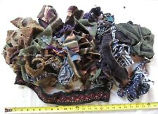 New listing 14 oz Lot Felted Wool Sweater Scraps Cuttings Upcycled Pieces Crafts Applique #1