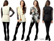 Unbranded Faux Fur Regular Size Waistcoats for Women