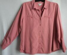 Women's CJ BANKS plus size 1X, button front,textured,checkered shirt  top blouse