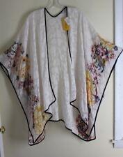 NWT Citron Lux XL 1X 2X Ivory Floral Devore Butterfly Silk Vest Jacket