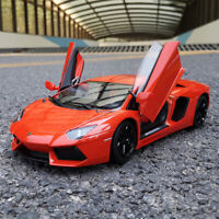 NEW ORANGE 1:18 LAMBORGHINI AVENTADOR LP700-4 DIECAST CAR MODEL TOYS BY WELLY