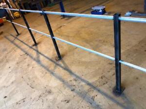 New mezzanine floor handrails