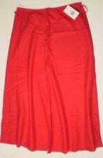 M&S  Linen Blend A-Line Long Skirt  'RED'