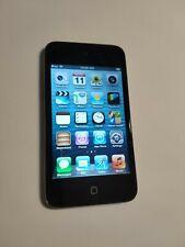 Apple iPod Touch 4th Generation 8GB Black Broken Power Button, Case Bundle
