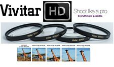 4-Pcs Vivitar Close Up Macro Lens +1+2+4+10 Set For Sony SAL-50F18 50mm Lens