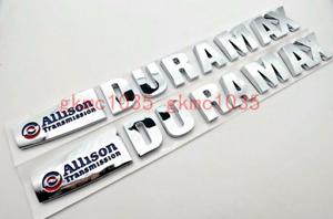 2Pas Allison Duramax Transmission Emblem Badge GM 2500HD 3500HD Shiny Silver