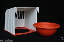 PLASTIC BREEDING NEST BOX PAN CANARY BRITISH FINCH REMOVABLE PAN