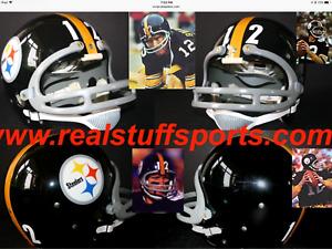 Vtg Style TERRY BRADSHAW Pittsburgh Steelers NFL TK Game Football Helmet Dungard