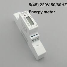 5(45)A 230V 45A Single phase Din rail KWH Watt hour din-rail energy meter LCD