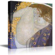 "Wall26 - ""Danae E"" by Gustav Klimt - Golden Phase - Canvas Art Home Decor -16x16"