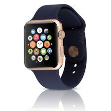 Apple Watch Series 2 Sport 42mm Aluminum Gold Case w/ Midnight Blue Band MNNL2LL
