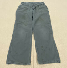 CARHARTT Used Cotton Work PANTS Men's 30x29 WORN FADED TRASHED Painter Carpenter