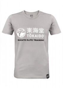 T-SHIRT, TOKAIDO ATHLETIC, HELLGRAU, Gr. XS-3XL, Karate, Kickboxen, Ju Jutsu