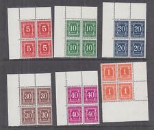 TANZANIA, POSTAGE DUE, 1969 perf. 14 x 15, set of 6 corner blocks of 4, mnh.