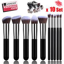 Wholesale 10 Set Makeup Brushes Oval Foundation Powder Liquid Lip Eyebrow Brush