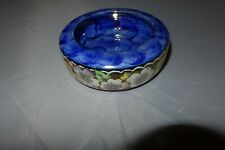More details for maling lustre newcastle upon tyne blue flowers pin dish bowl