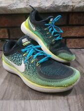 Nike Free RN Distance 2 Mens Running Shoes Green Yellow Blue 831508-100 Mens 8.5