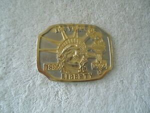 "Vintage 100 Years Of Liberty 1886-1986 Belt Buckle "" BEAUTIFUL COLLECTIBLE ITEM"