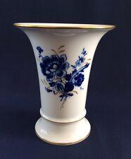 Meissen Vaso tromba, Blu e Bianco migliorata con dorature