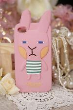 cover morbida Iphone 4 e 4s a forma di coniglio colore rosa
